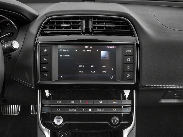 2018 Jaguar XE Base Price S AWD Pricing stereo system