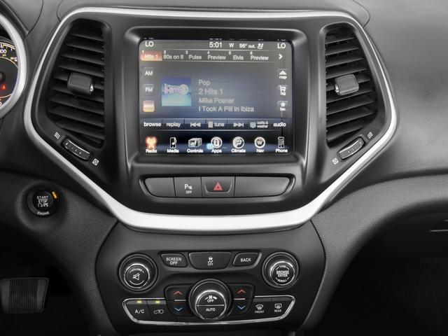 2018 Jeep Cherokee Base Price Overland 4x4 Pricing stereo system