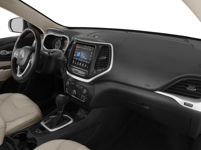 2018 Jeep Cherokee Base Price Overland 4x4 Pricing passenger's dashboard