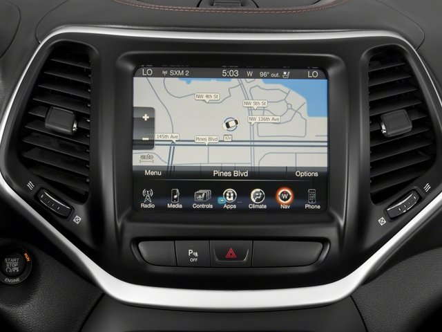 2018 Jeep Cherokee Pictures Cherokee Overland 4x4 photos navigation system