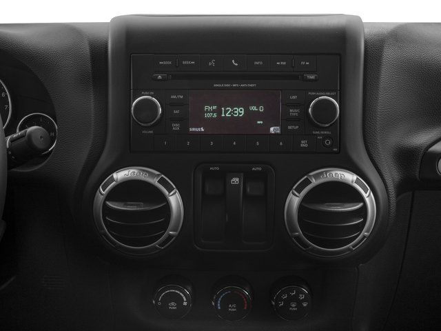 2018 Jeep Wrangler JK Prices and Values Utility 2D Sahara 4WD stereo system