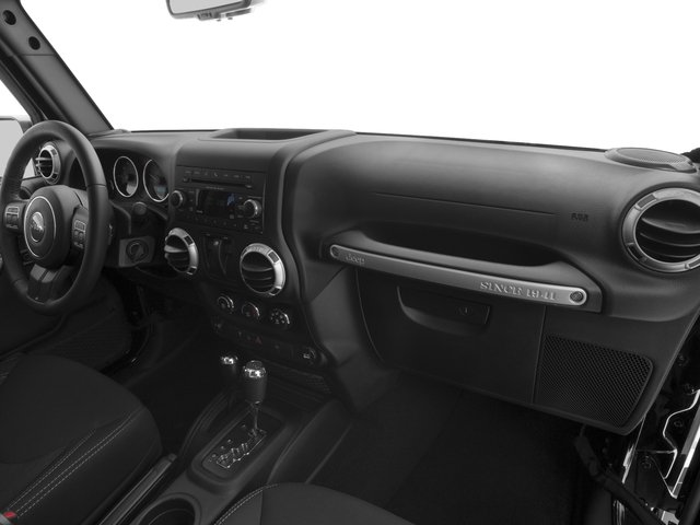 2018 Jeep Wrangler JK Prices and Values Utility 2D Sahara 4WD passenger's dashboard
