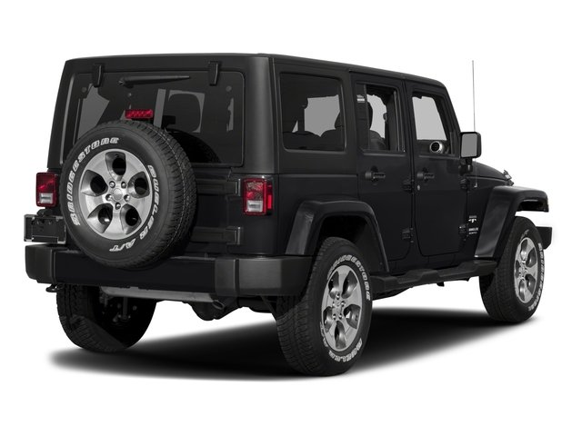 2018 Jeep Wrangler JK Unlimited Base Price Sahara 4x4 Pricing side rear view