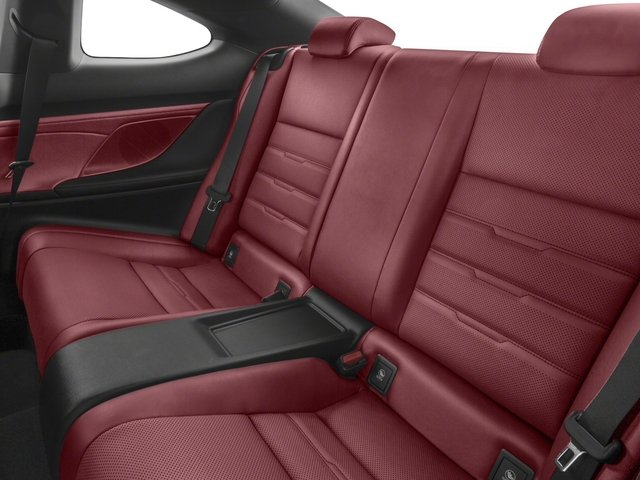 2018 Lexus RC Prices and Values Coupe 2D RC300 AWD V6 backseat interior