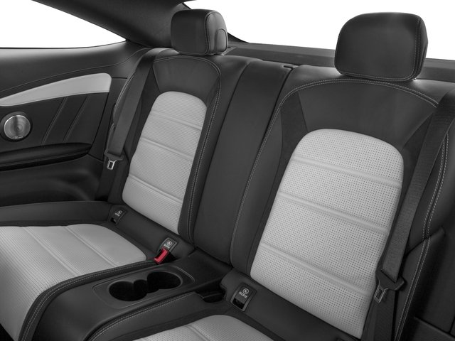 2018 Mercedes-Benz C-Class Base Price AMG C 63 S Coupe Pricing backseat interior
