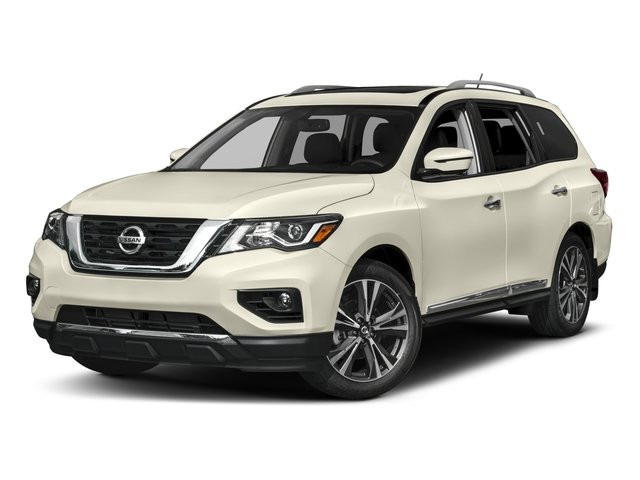 2018 Nissan Pathfinder Base Price FWD Platinum Pricing side front view