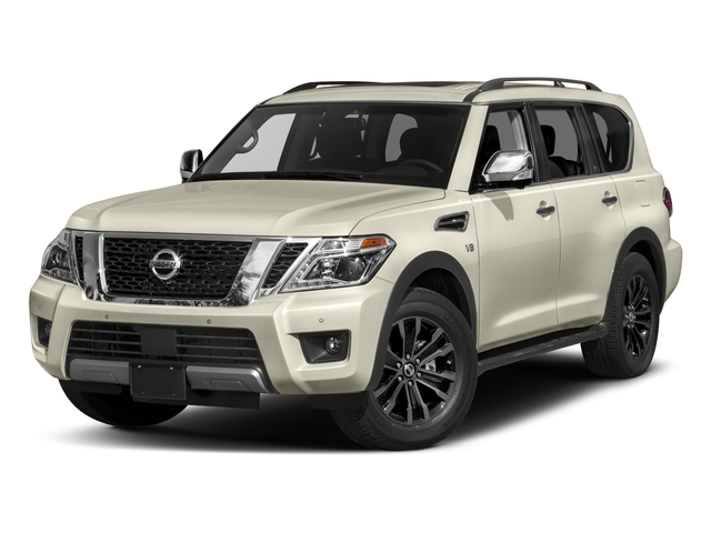 2018 Nissan Armada Pictures Armada 4x2 Platinum photos side front view