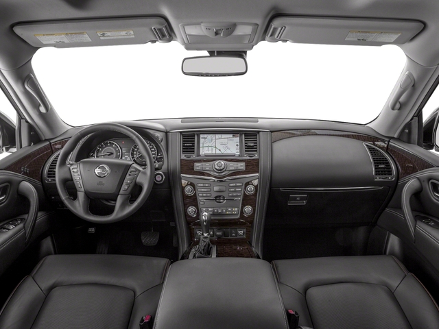 2018 Nissan Armada Pictures Armada 4x2 Platinum photos full dashboard