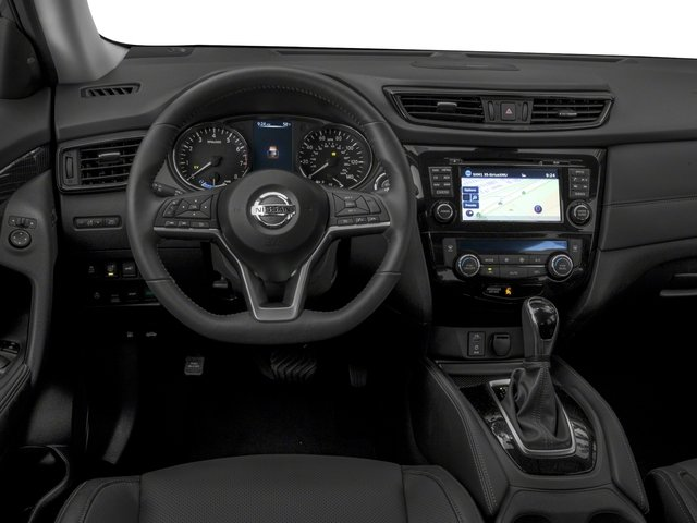 2018 Nissan Rogue Prices and Values Utility 4D SV AWD I4 Hybrid driver's dashboard
