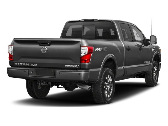 2018 Nissan Titan XD Base Price 4x4 Diesel Crew Cab PRO-4X Pricing side rear view
