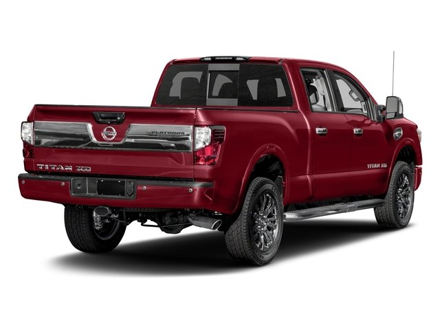 2018 Nissan Titan XD Pictures Titan XD 4x4 Diesel Crew Cab Platinum Reserve photos side rear view
