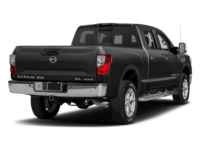 2018 Nissan Titan XD Pictures Titan XD 4x2 Gas Crew Cab SL photos side rear view