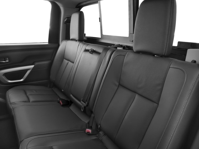 2018 Nissan Titan XD Pictures Titan XD 4x2 Diesel Crew Cab SL photos backseat interior