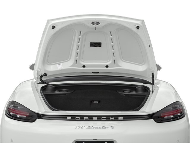 2018 Porsche 718 Boxster Pictures 718 Boxster S Roadster photos open trunk