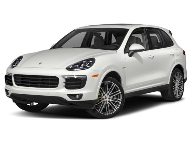 2018 Porsche Cayenne Pictures Cayenne S Platinum Edition E-Hybrid AWD photos side front view