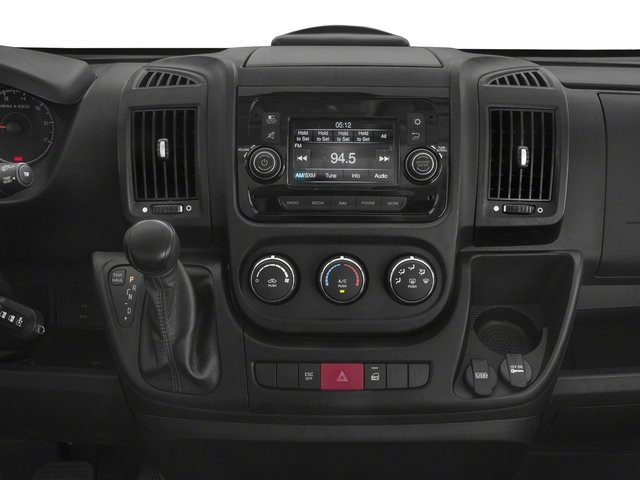 2018 Ram Truck ProMaster Cargo Van Base Price 2500 High Roof 159 WB Pricing stereo system