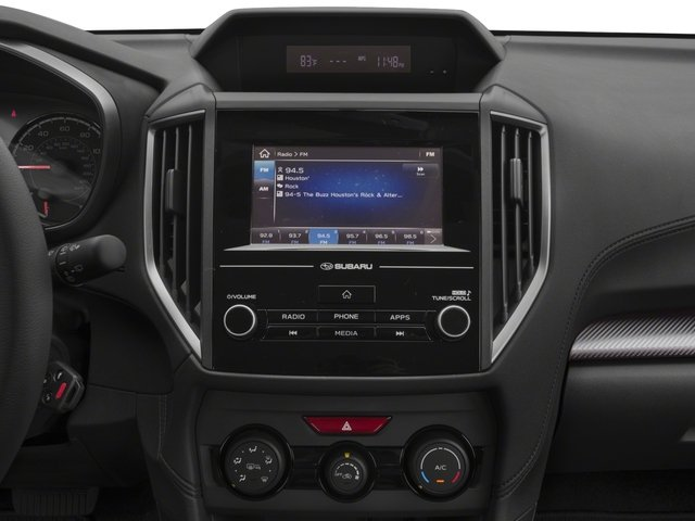 2018 Subaru Crosstrek Prices and Values Wagon 4D Premium AWD H4 stereo system