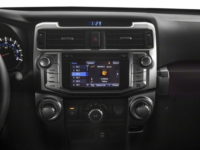 2018 Toyota 4Runner Base Price SR5 Premium 4WD Pricing stereo system