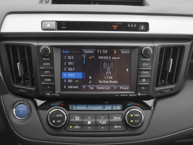 2018 Toyota RAV4 Prices and Values Utility 4D Limited AWD I4 Hybrid stereo system