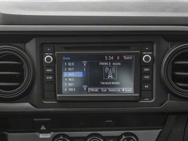 2018 Toyota Tacoma Prices and Values SR Extended Cab 4WD I4 stereo system