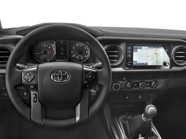 2018 Toyota Tacoma Prices and Values TRD Off-Road Crew Cab 2WD V6 driver's dashboard