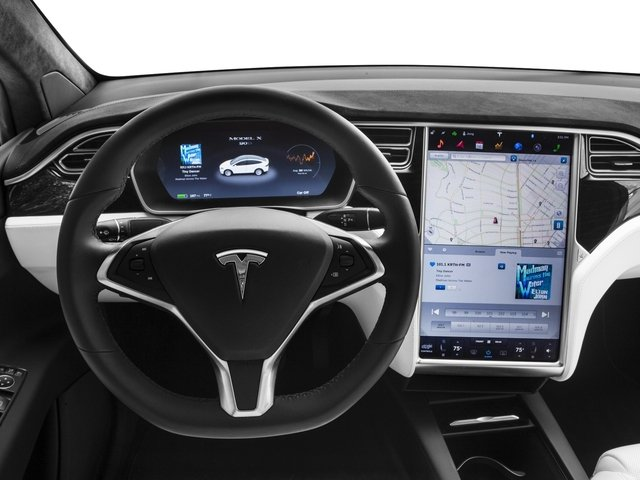 2018 Tesla Motors Model X Base Price P100D AWD Pricing driver's dashboard