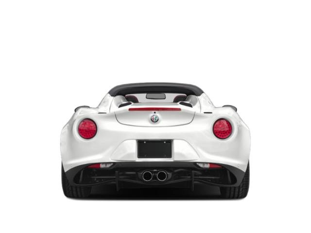 2019 Alfa Romeo 4C Spider Base Price Spider Pricing rear view