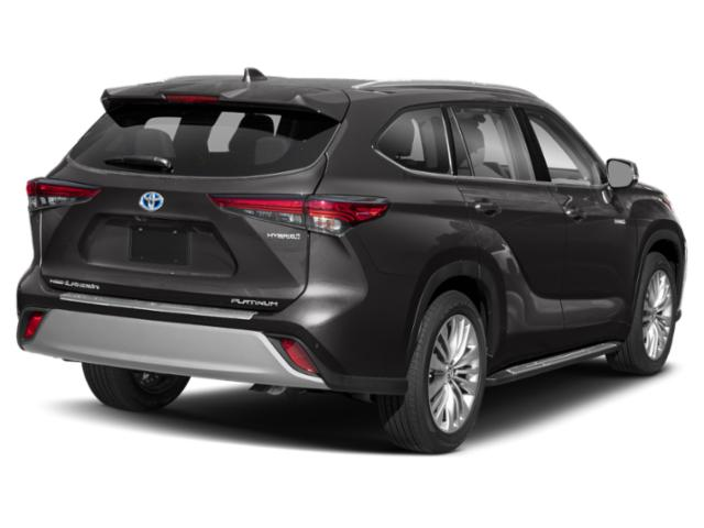2021 Toyota Highlander Base Price Hybrid Platinum FWD Pricing side rear view