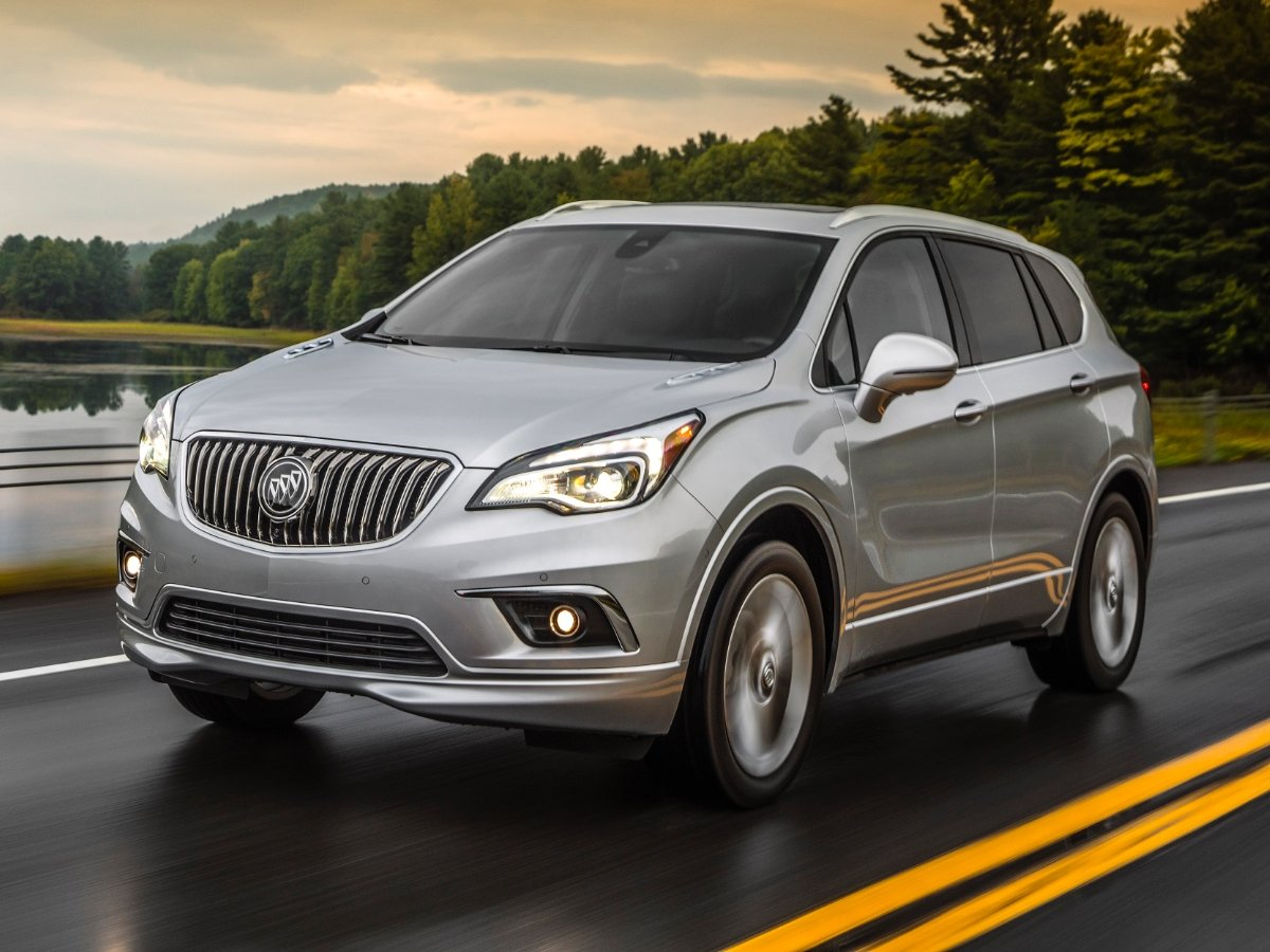 2018 Buick Envision Silver Front Quarter View