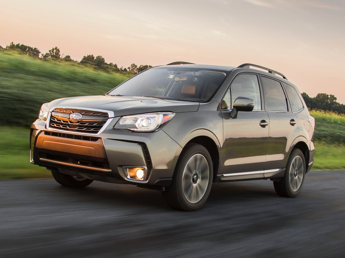 2018 Subaru Forester Green Front Quarter View Action