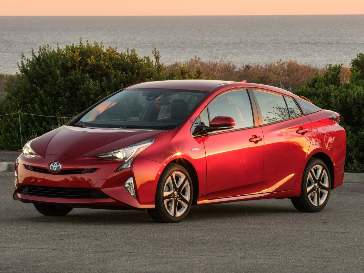 2018 Toyota Prius Red Front Quarter View