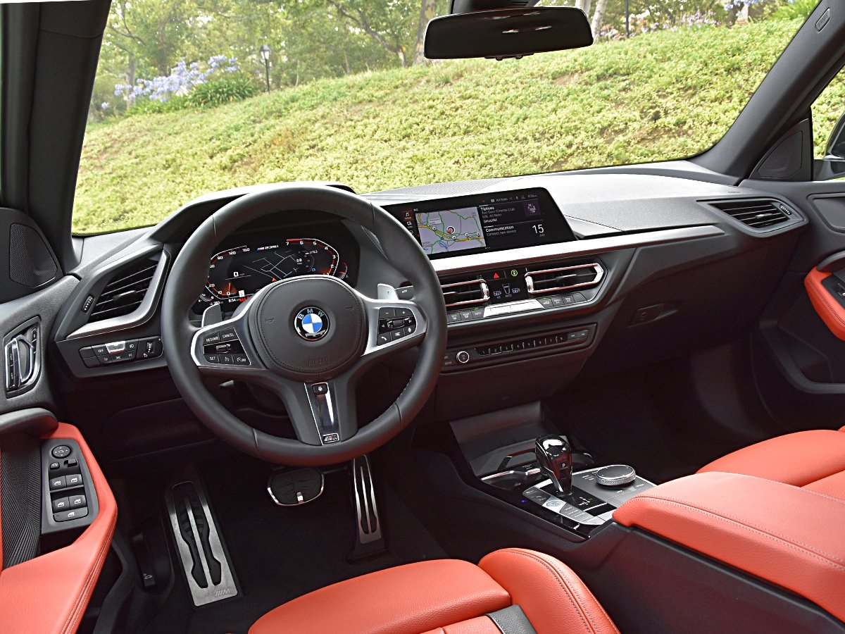 2020 BMW 2 Series Gran Coupe Magma Red interior and Dashboard view