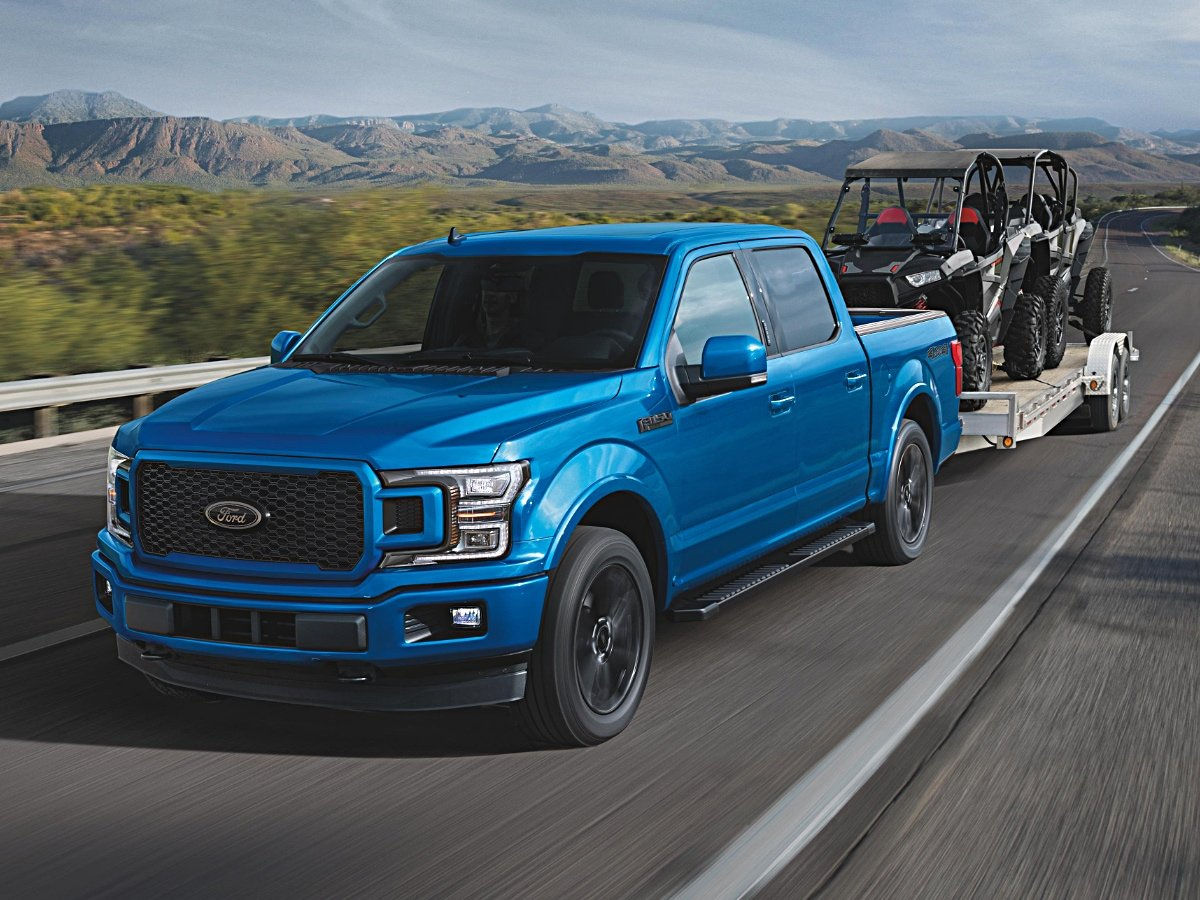 2020 Ford F-150 SuperCab Blue Towing Toys