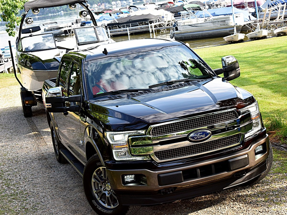 2020 Ford F-150 Towing a Boat