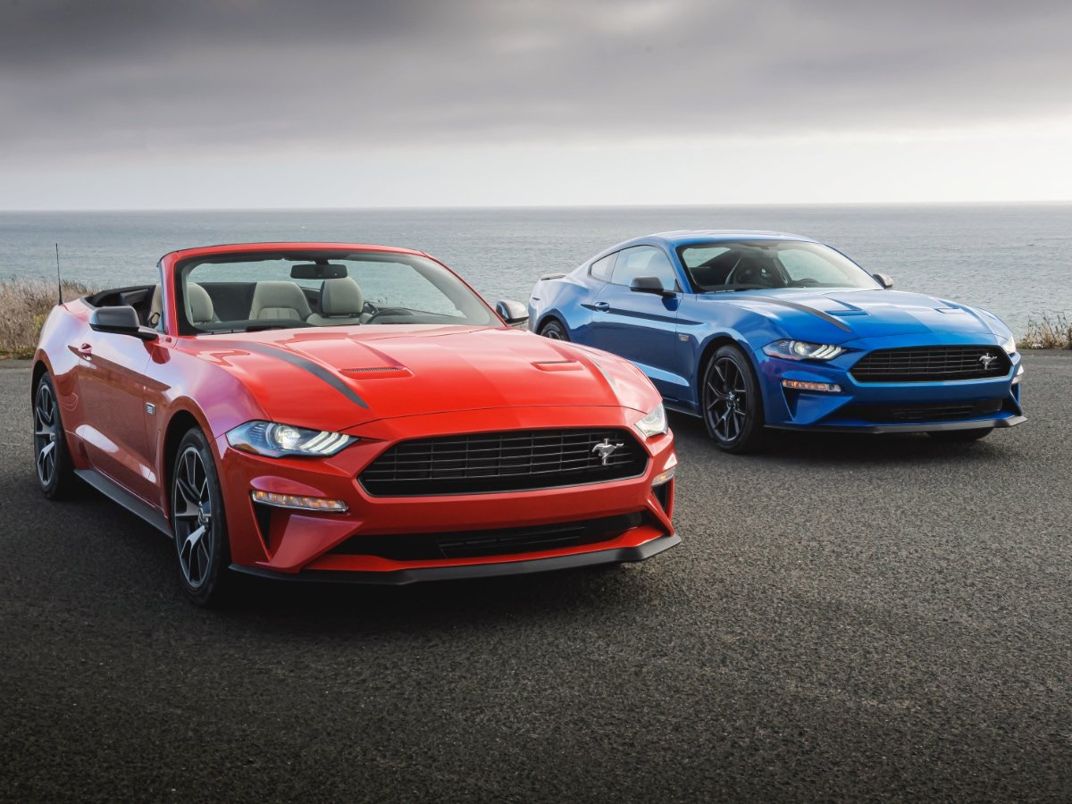 2020 Ford Mustang J.D. Power top-rated coupe convertible