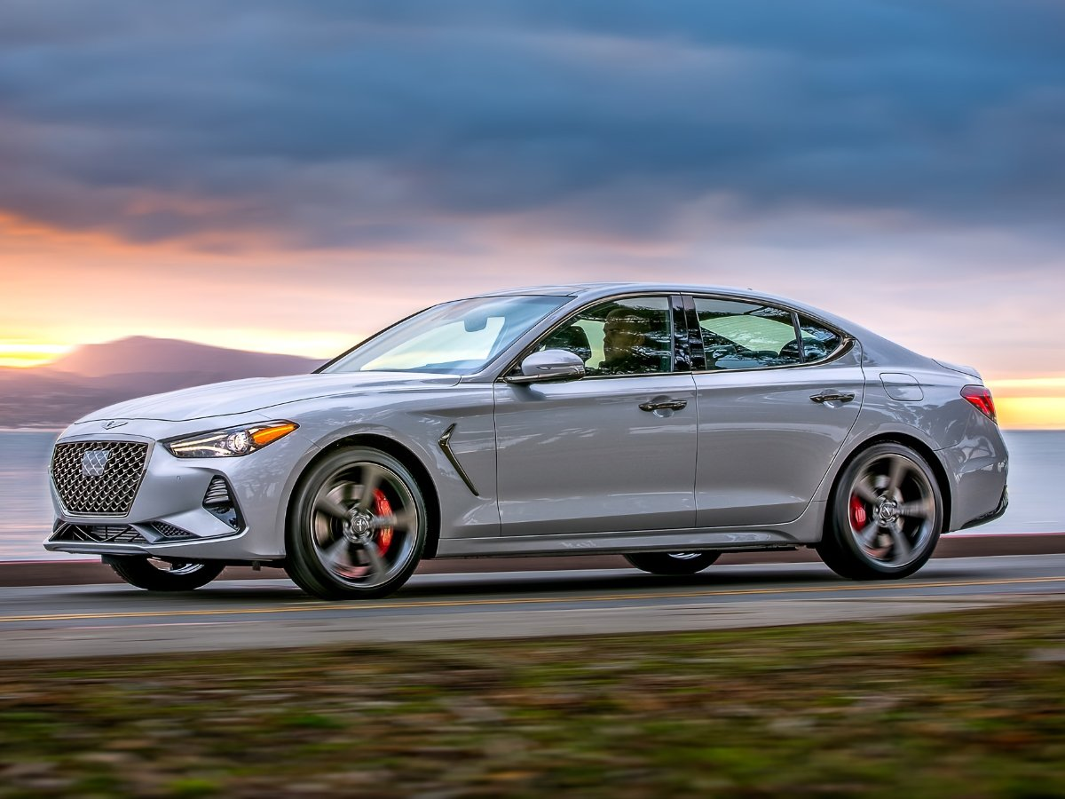 2020 Genesis G70 Gray Front Side View