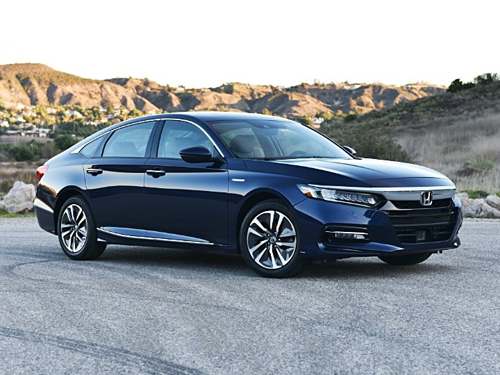 2020 Honda Accord Hybrid Blue Front Quarter View