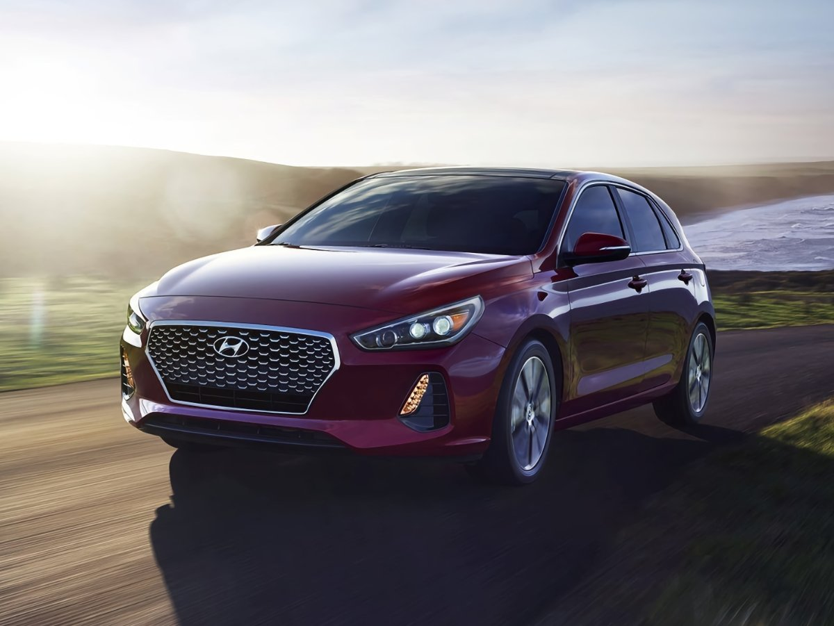 2020 Hyundai Elantra GT Red Front Quarter Action