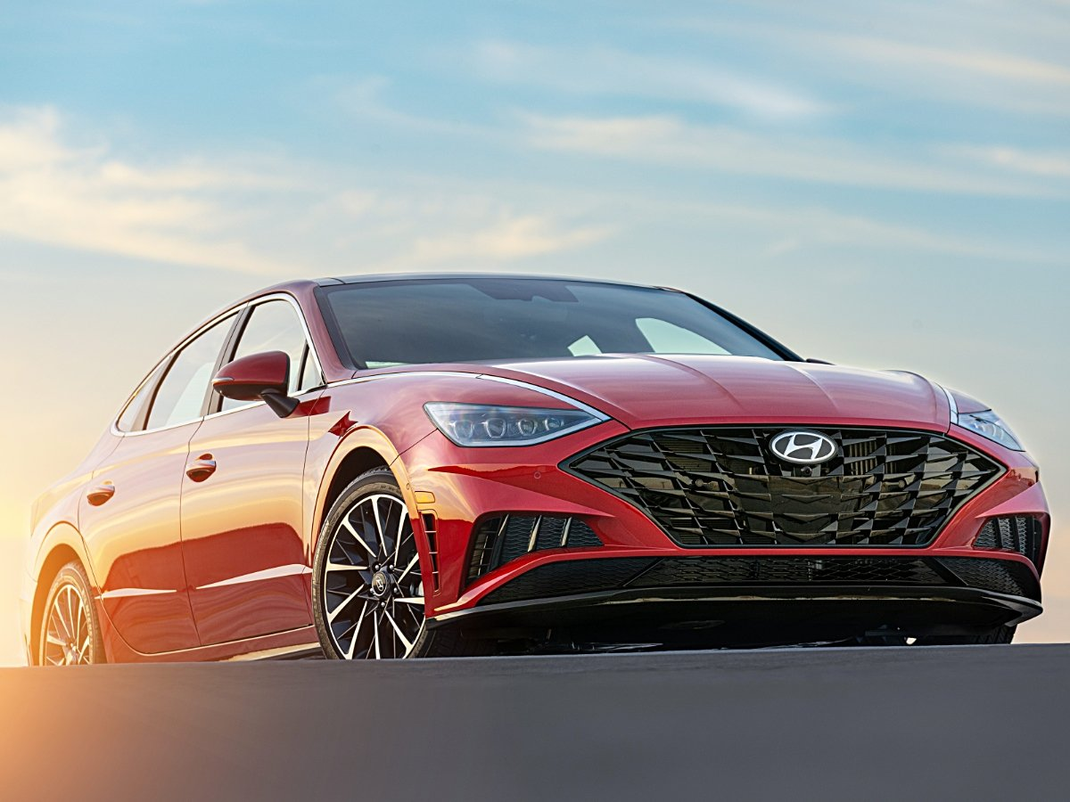 2020 Hyundai Sonata Limited Red Front Low View