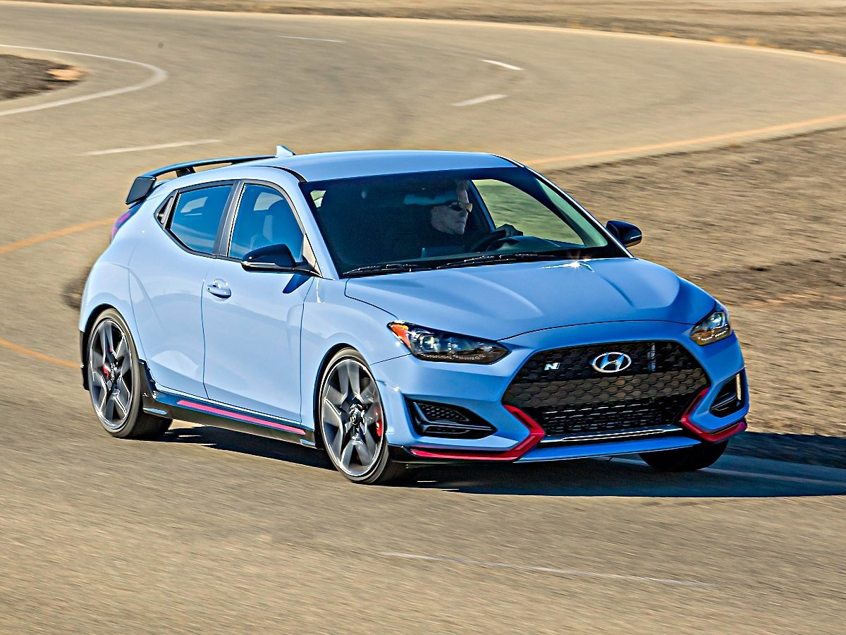 2020 Hyundai Veloster N Blue At Speed