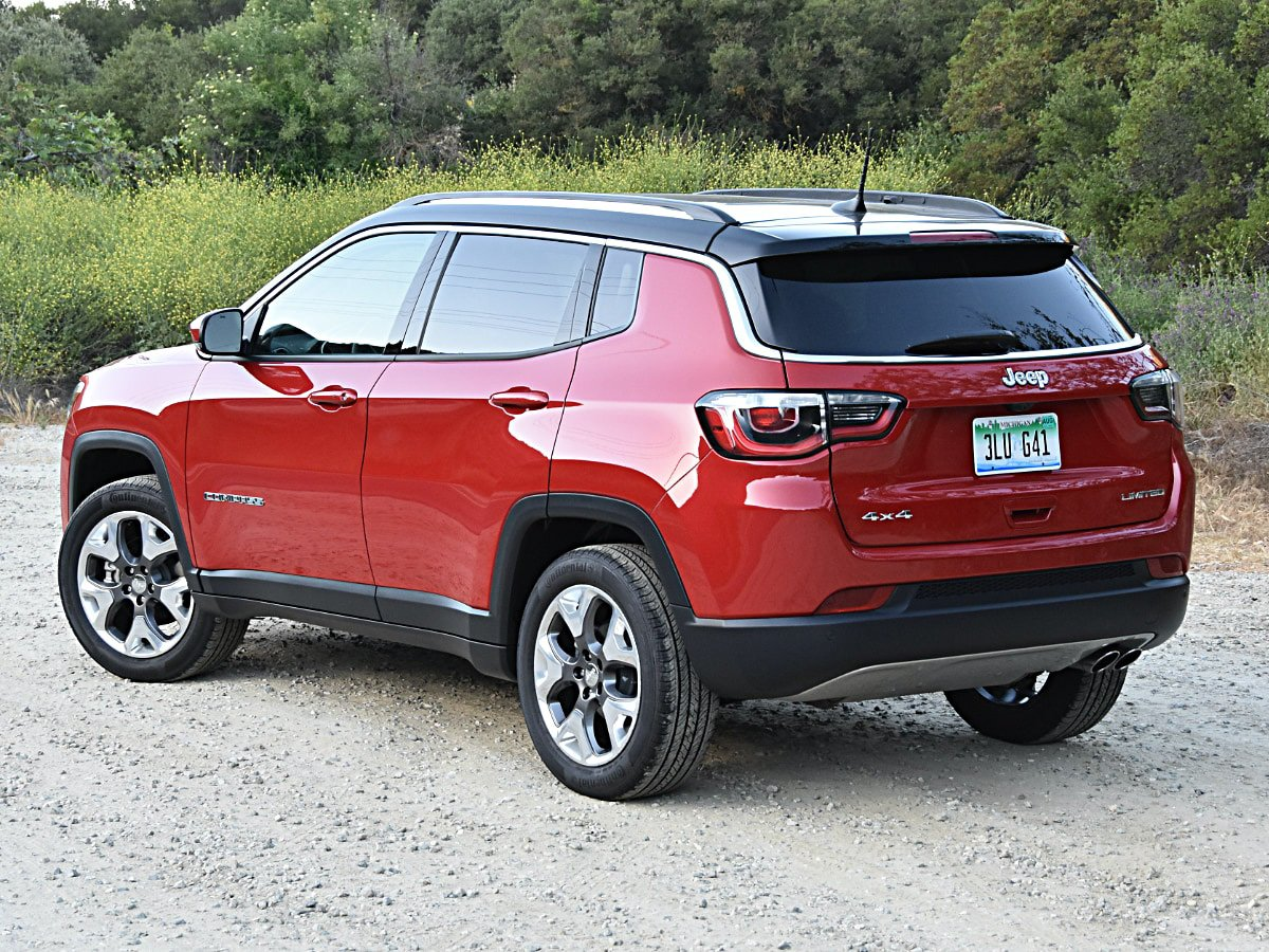 2020 Jeep Compass Limited rear view in red