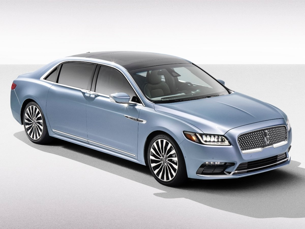 2020 Lincoln Continental Silver Blue Front View