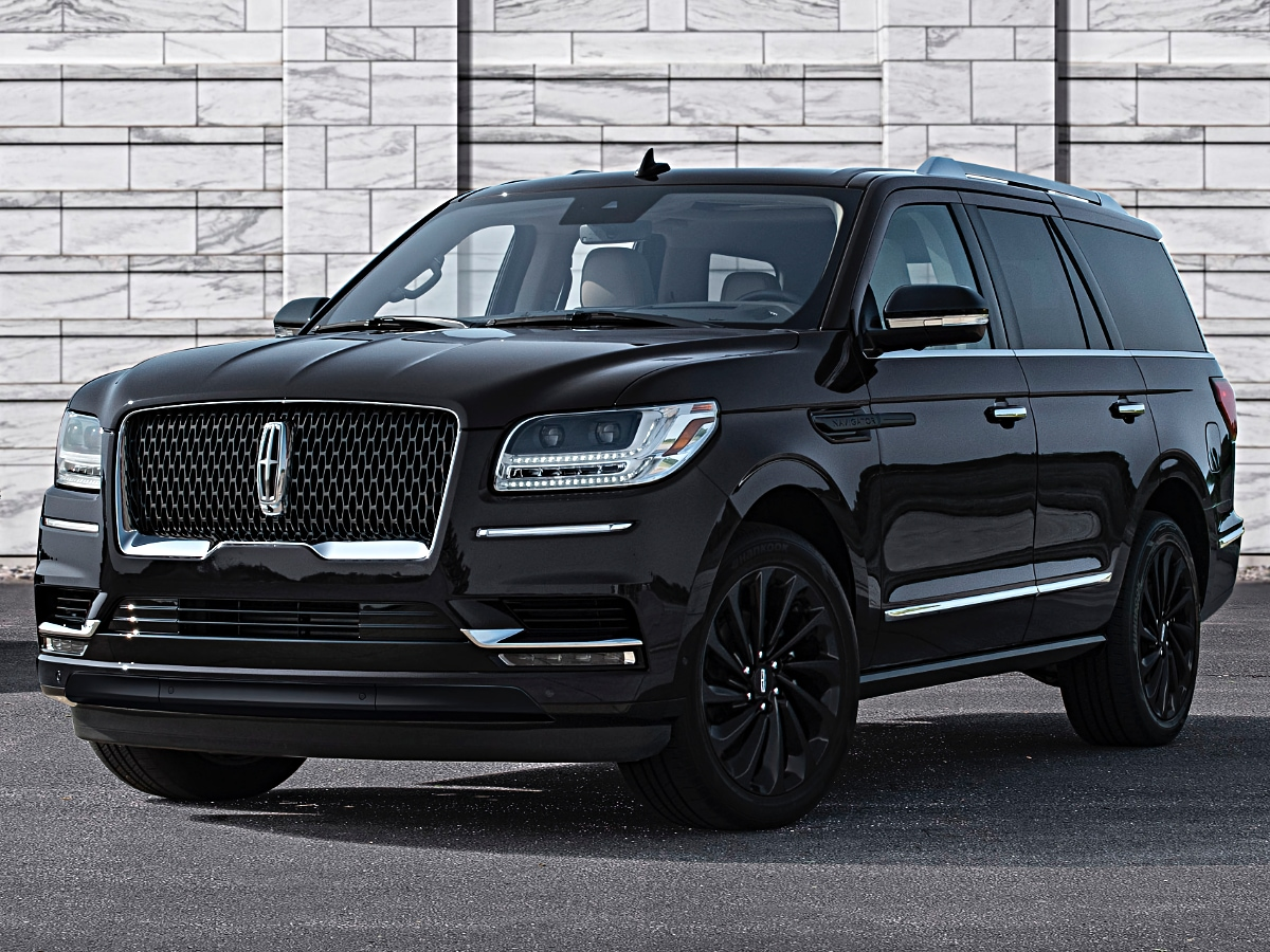 2020 Lincoln Navigator Reserve Black Front View