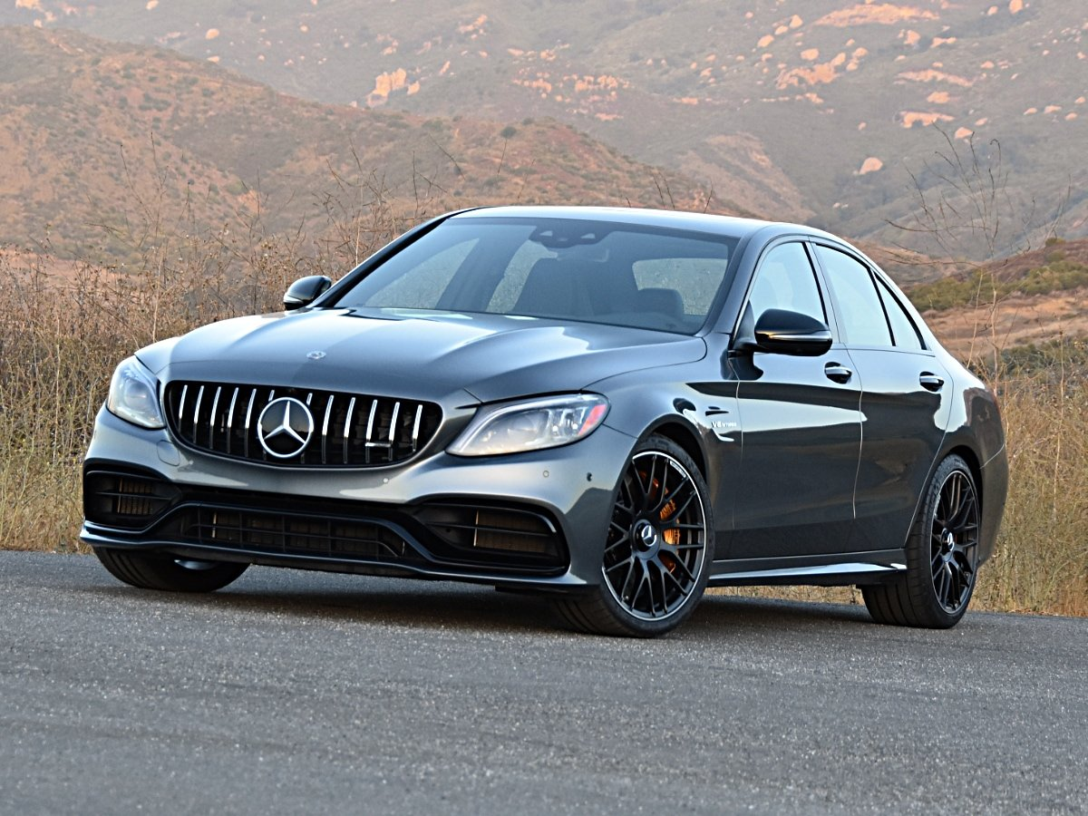 2020 Mercedes-AMG C63 S selenite gray front view