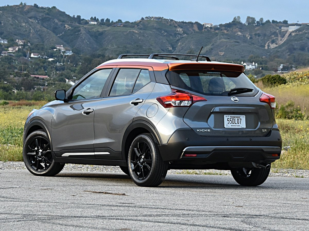 2020 Nissan Kicks SR Gray Orange Rear View
