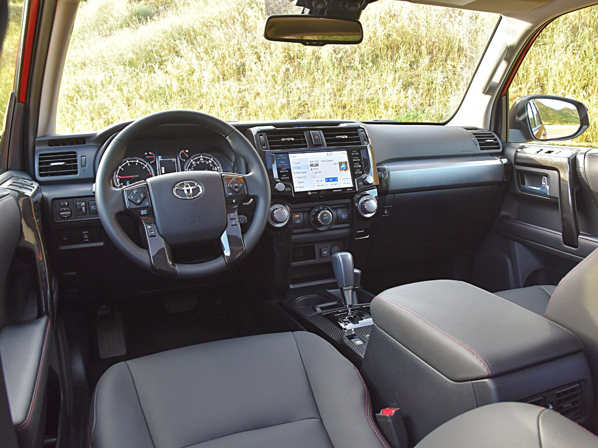 2020 Toyota 4Runner Venture edition interior dashboard view