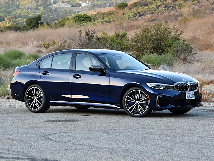 2020 BMW M340i Tanzanite Blue Front Quarter