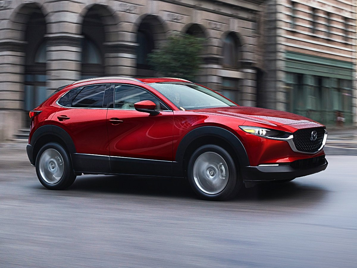 2020-Mazda-CX-30 Grand Touring Red Action