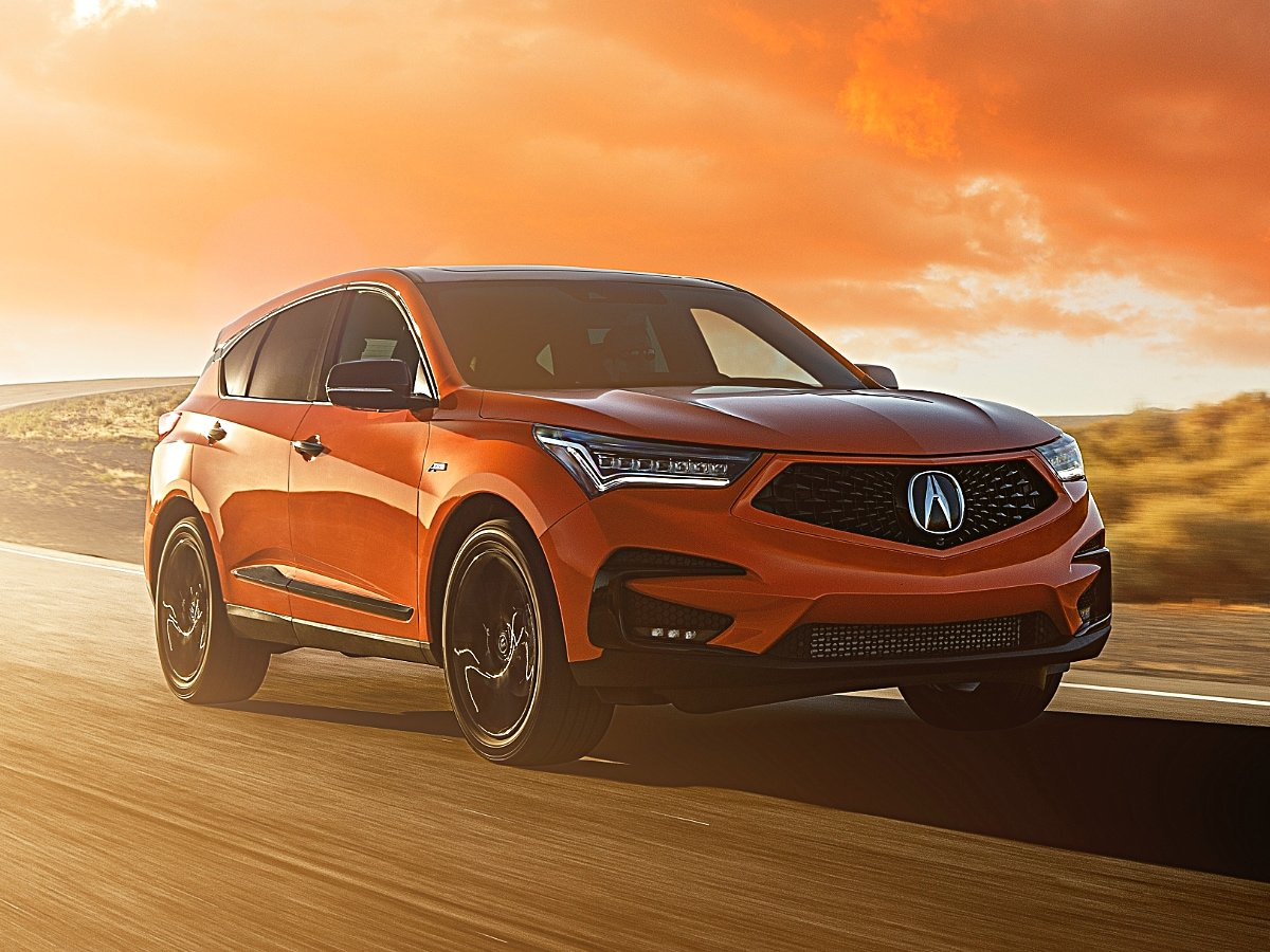 2021 Acura RDX PMC Edition Orange Front View on Track