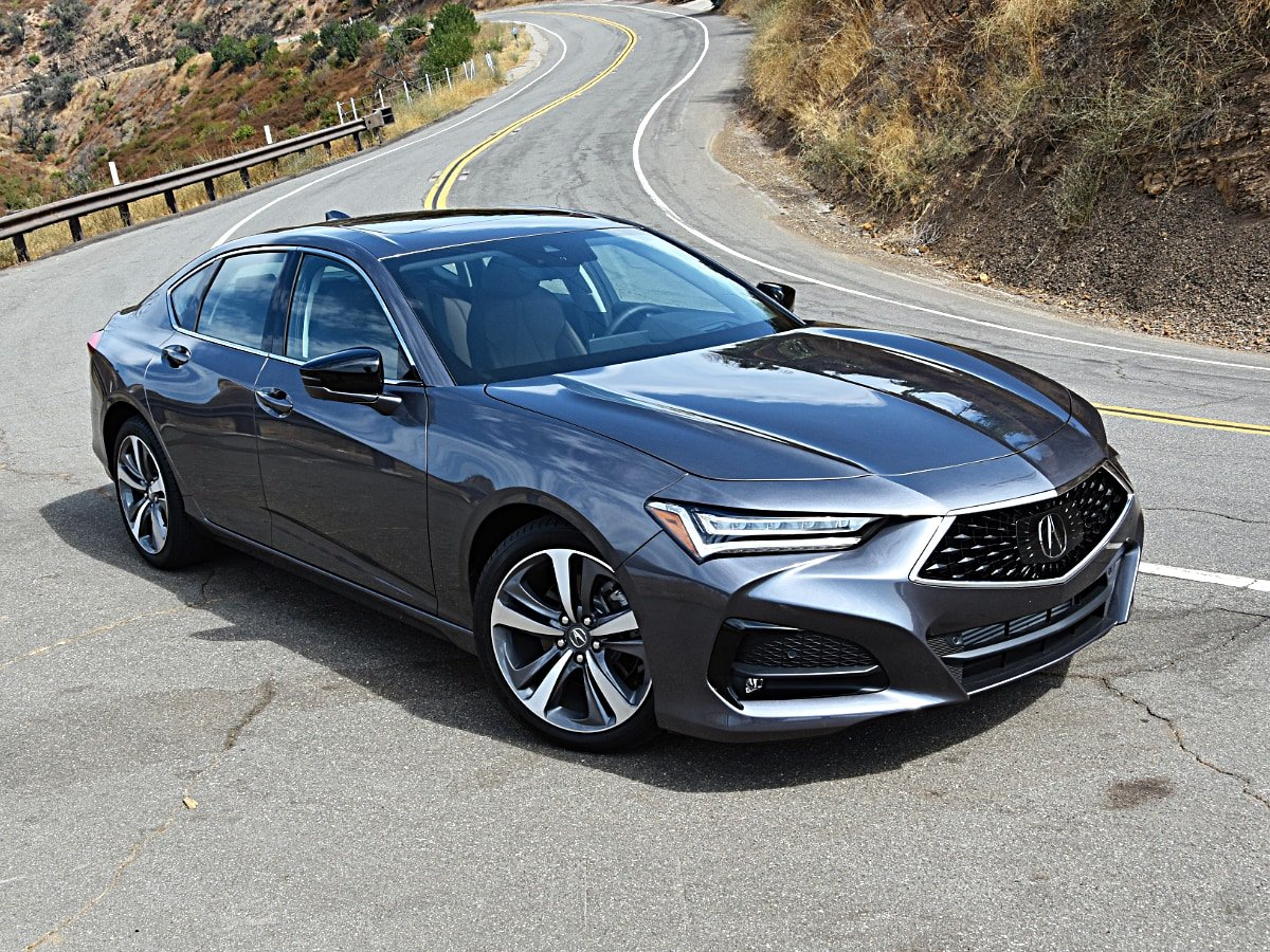 2021 Acura TLX Advance Gray Front Quarter View